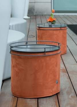 """Orange Microsuede Block 17""""Cover"""