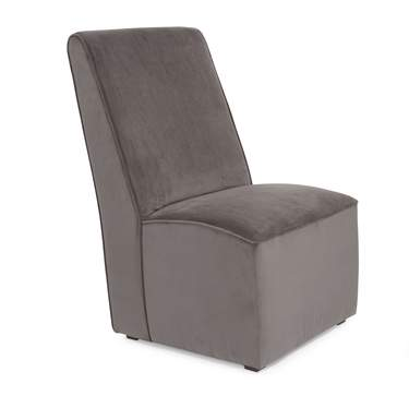 Chair Martini Pewter Microsuede