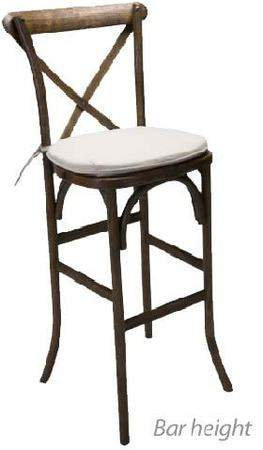 Magnificent Cross Back Farm Bar Stool Rentals Seating And Chair Download Free Architecture Designs Rallybritishbridgeorg