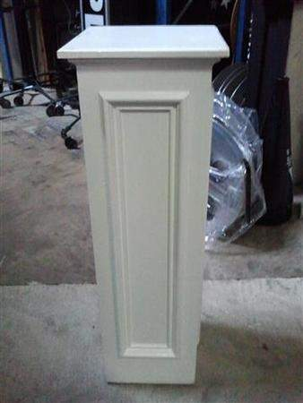 Column Contemporary White Wood Rentals Drapery Decor