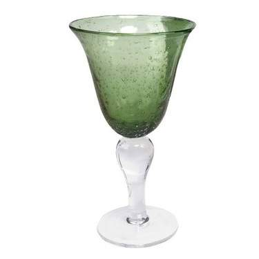 Bubble Iris Green Goblet