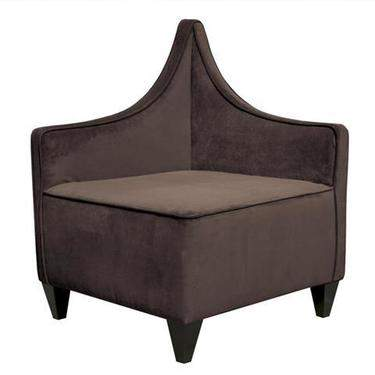 Corner Chair Manhattan Bella Chocolate