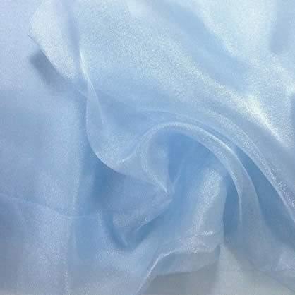 "Blue Ice Sheer Organza 90"" x 90"" Table Linen"