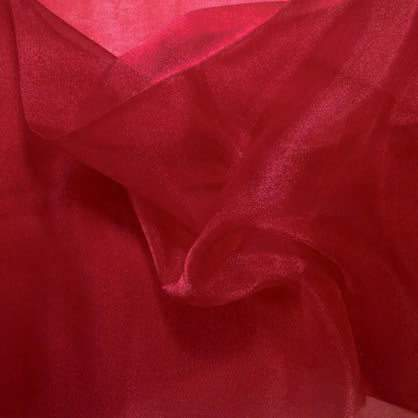 "Burgundy Sheer Organza 90"" x 132"" Table Linen"