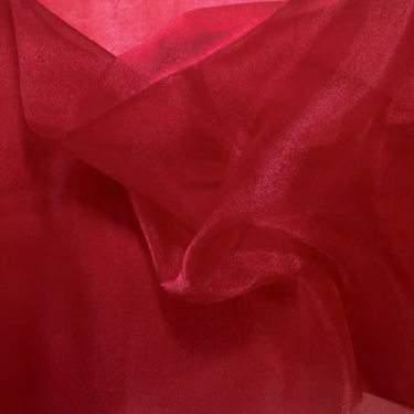 Burgundy Sheer Organza Table Linen