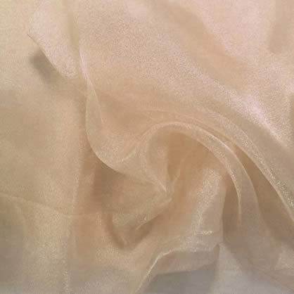 "Champagne Sheer Organza 108"" Round Table Linen"
