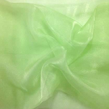 """Kiwi Sheer Organza 90"""" x 132"""" Table Linen"""