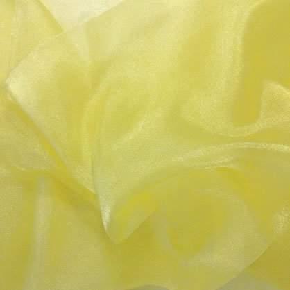 "Maize Sheer Organza 132"" Round Table Linen"