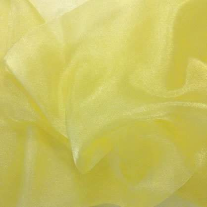 "Maize Sheer Organza 90"" x 132"" Table Linen"