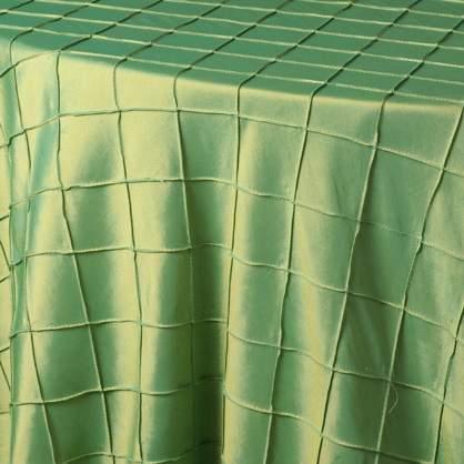 """Pintuck - Apple Green 54"""" x 54"""