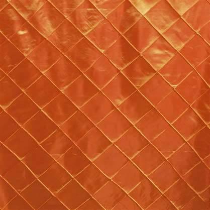 "Pintuck - Orange 90"" x 132"""