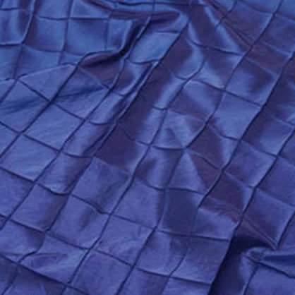 "Pintuck - Royal Blue 90"" Round"