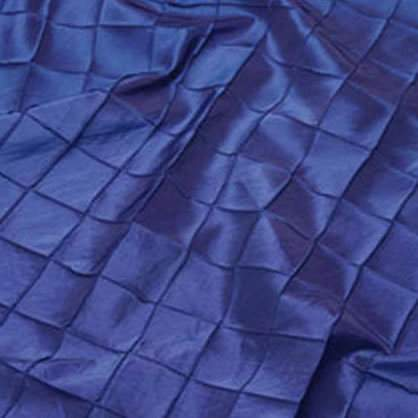 "Pintuck - Royal Blue 132"" Round"