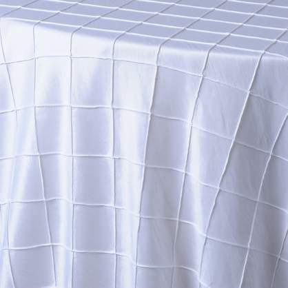 "Pintuck - White 90"" x 132"""