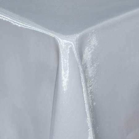 "White Sheer Organza 132"" Round Table Linen"
