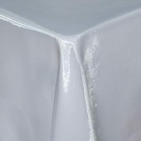 """White Sheer Organza 90"""" x 156"""" Table Linen"""