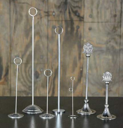 """Table Stanchion Silver 8"""""""