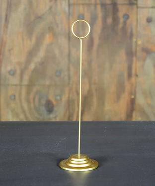 Table Stanchion Gold  12""