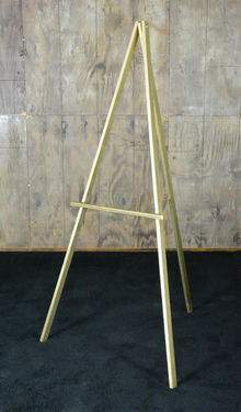 Easel Gold Wood