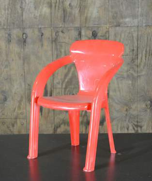 Red Children's Chair w/ Arms