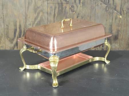 Chafer Rectangular Copper & Brass 8qt