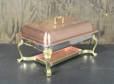 Chafer Rectangular Copper & Brass 8qt