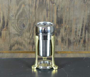 Chafer Sauce Stainless & Brass 2qt