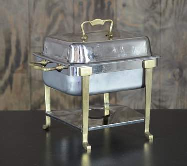 Chafer Stainless & Brass 4qt