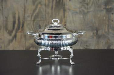 Chafer Round Silver 3qt