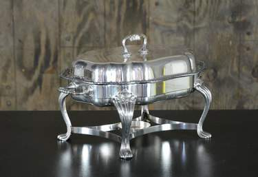Chafer Oval Vintage Silver 5qt