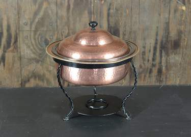 Chafer Round Hammered Copper 4qt