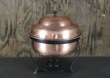 Chafer Round Hammered Copper 8qt