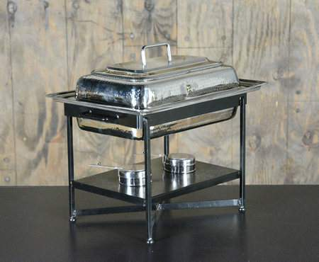 Chafer Rectangular Hammered Aluminum 8qt