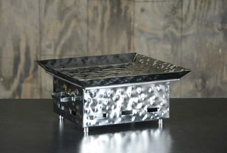 "Square Hammered Aluminum Warmer 12"""