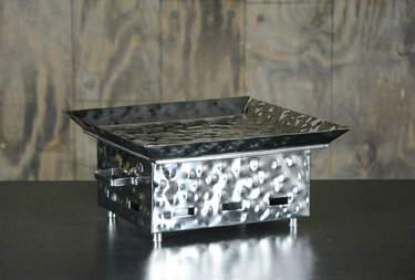 Square Hammered Aluminum Warmer 12""