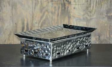 "Hammered Aluminum Warmer 20""x12"""