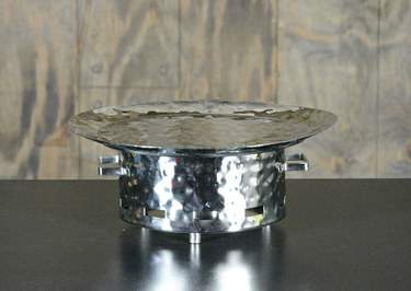 Round Hammered Aluminum Warmer 16""