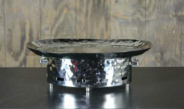 "Oval Hammered Aluminum Warmer 22""x15"""