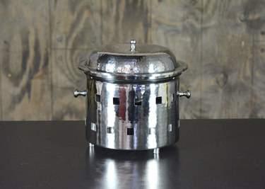 Chafer Round Hammered Aluminum 3qt