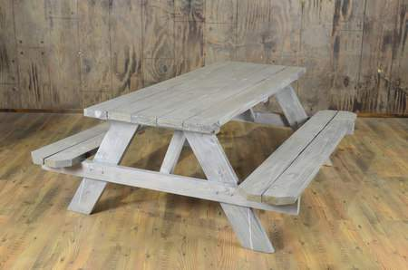 Driftwood Picnic Table 6'