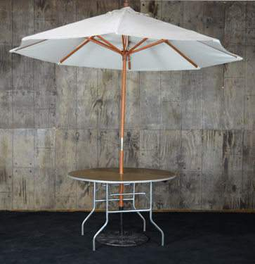 Round Umbrella Table 48""