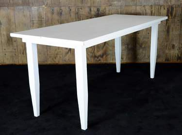 "White Vineyard Table - 8'x40"" Bar Height"