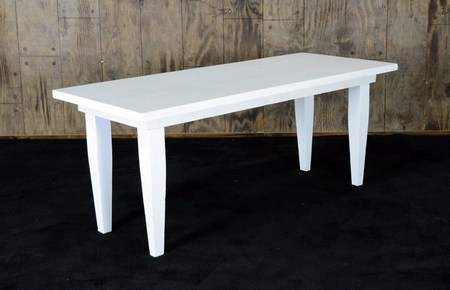 "White Vineyard Table - 6'x30"" Seating Height"
