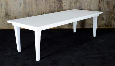 "White Vineyard Table - 8'x40"" Seating Height"