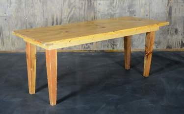 """Golden Oak Vineyard Table - 6'x30"""" Bar Height"""