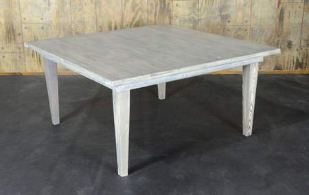 """Driftwood Vineyard Table - 72"""" Square Seating Height"""
