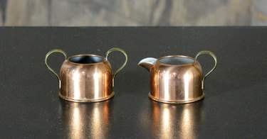 Copper Cream & Sugar Set