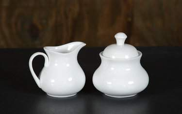 White China - Cream & Sugar Set