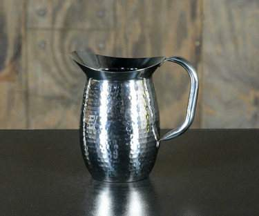 Hammered Stainless Pitcher 64oz