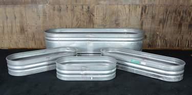 Trough Galvanized Metal - 4'x1'
